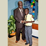 Primary School male, Lonny Laguerre, of NEPS awarded (multiple times) for his achievements in sports - 490A7113