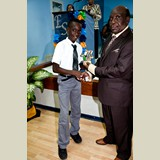 Primary School male of NEPS awarded for his achievements in sports - 490A7114