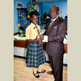 Primary School female of NEPS awarded for her achievements in sports -490A7115