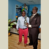 Primary School male awarded for his achievements in sports- 490A7122