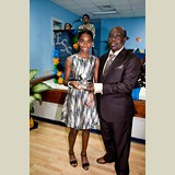 Primary School female of HIAAS, Raven Cash, awarded for her achievements in sports- 490A7123