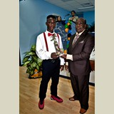High School male of PHAHS, D'angelo Young, awarded for his achievements in sports- 490A7130
