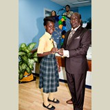 Primary School female of NEPS awarded yet again for her achievements in sports -490A7133