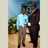 Primary School male awarded for his achievements in sports- 490A7135