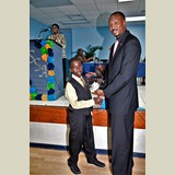 Primary School male awarded for his achievements in sports- 490A7140