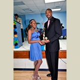 Recent graduate of the PHAHS, Wendeisha Symonette also awarded for her achievements in basketball- she received several awards on the night.  490A7145