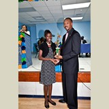 High School female of CEHS, Lonnesha Rolle, awarded for her achievements in sports- 490A7157