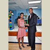 Lachante Johnson of HIAAS was also awarded for her achievements in basketball- 490A7161