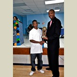 Rostin Bethel was also awarded for his achievements in basketball- 490A7164