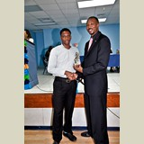 Recent graduate of CEHS, Terio Sands,  awarded for his achievements in sports-490A7165
