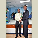 High School male of CEHS, Janis Shepherd, awarded for his achievements in sports- 490A7166