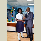 Recent graduate of the SGPAA, Toya Joseph, awarded for her achievements in sports-- 490A7171