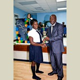 Recent graduate of the SGPAA, Elvina Morn, awarded for her achievements in sports- 490A7172