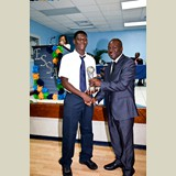 High School male awarded for his achievements in sports- 490A7174