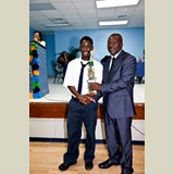 High School male awarded for his achievements in sports- 490A7175