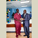 High School male of PHAHS, Waydrick Anderson, awarded (multiple times) for his achievements in sports- 490A7180