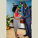 High School female of PHAHS, Jasmine Hall, awarded for her achievements in sports- 490A7192