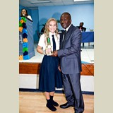 High School female of SGPAA, Allie Pinder, awarded yet again for her achievements in sports- 490A7196