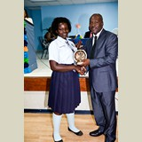 Recent graduate of the SGPAA, Toya Joseph, awarded for her achievements in sports- 490A7197