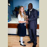 Recent graduate of the SGPAA, Melody, awarded for her achievements in sports- 490A7198