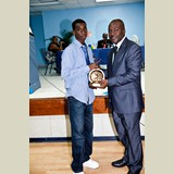 High School male awarded for his achievements in sports- 490A7199
