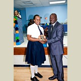 High School female of SGPAA awarded for her achievements in sports- 490A7203