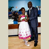 Primary School female awarded for being the Best All Around athlete in her category- 490A7204