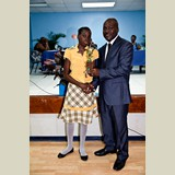 Primary School female awarded for being the Best All Around athlete in her category- 490A7205