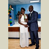 Primary School female of GHPS awarded for being the Best All Around athlete in her category- 490A7208