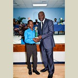 Primary School male awarded for being the Best All Around athlete in his category-  490A7212