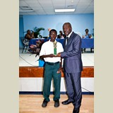 Primary School male awarded for being the Best All Around athlete in his category-  490A7213