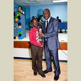 Primary School male awarded for being the Best All Around athlete in his category-  490A7213490A7215