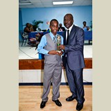 Primary School male of GHPS, Omarion, awarded for being the Best All Around athlete in his category-  490A7213 490A7216