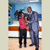 Primary School male awarded for being the Best All Around athlete in his category-   490A7217