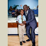 Primary School male awarded for being the Best All Around athlete in his category-  490A7220