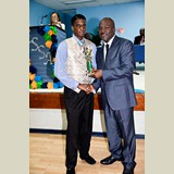 High School male awarded for being the Best All Around Athlete in his category- 490A7223