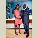 Lachante Johnson of HIAAS was awarded as   Best All Around Female Athlete in her category-490A7226