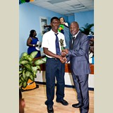 High School male of HIAAS awarded for being the Best All Around Athlete in his category- 490A7232