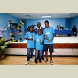 Students from the School for Exceptional Learners being awarded for their successful participation in the recent Special Olympics held in Tarpum Bay, Eleuthera- 490A7233
