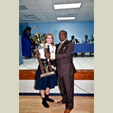 Allie Pinder of the SGPAA was awarded the Most Outstanding Junior Athlete on the Island of Eleuthera- 490A7236