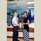 Safyha Bryan and Kade Roberts share the crown of being the Most Outstanding Senior Athletes on the Island of Eleuthera - 490A7246