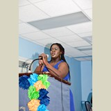 Ms. Jaimie Williams, one of the event's organizers, giving a few words- 490A7260