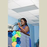 Ms. Jaimie Williams, one of the event's organizers, giving a few words- 490A7261