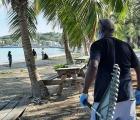 GH Beach cleanup - Paul Simmons ready with rake