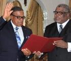 Oswald Ingraham being sworn in as Acting Governor General.