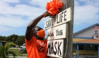 Eleuthera Painted Orange by Zonta's 'Say No To Violence' Campaign