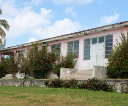The Governor's Harbour Clinic as it stood in January 2021.  The building has been unoccupied since early 2019.  Refurbishment plans which had been announced to begin in May of 2019, finally began during June of 2021.