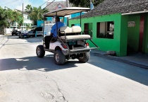 Five months of road repairs are ongoing to refurbish roads in Harbour Island.